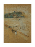 Figures on a Beach Near Cliffs  C 1870-74