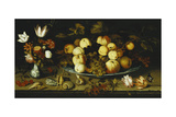 Fruit on a Dish  Flowers in a Wanli Kraak Porselein Vase  Sprigs of Cherries and Redcurrants …