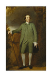 Portrait of George Morewood  Standing Full Length  in a Green Coat  Waistcoat and Breeches …