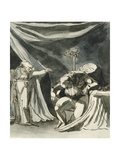 An Old Woman Wearing a Rosary Cursing a Seated Man; Possibly Queen Margaret Cursing the Duke of…