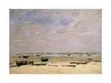 River Barges at Low Tide; Berck Le Rivage a Maree Basse  1882