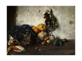 A Still-Life of Vegetables by a Wall  1890