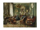 Vue De Salon De La Comtesse De Salverte (Nee Daru) a Paris  1857