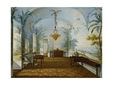 Painted Salon in the Palace of Schonbrunn Called Marian's Drawing Room  Schonbrunn  1831