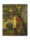 Portrait of Colonel Charles Heathcote  Standing Small Full Length in a Wooded Landscape  in the…