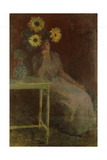 Suzanne with Sunflowers; Suzanne Aux Soleils  C1889