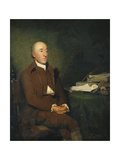 Portrait of Dr James Hutton  Seated Three-Quarter Length in a Brown Jacket and Breeches and White…