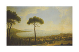 A Panoramic View of Naples  the Bay of Naples  Portici  Vesuvius  the Sorrento Peninsula and…