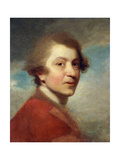 Portrait of the Artist  Head and Shoulders  in a Red Gown of a Doctor of Laws and White Stock -…
