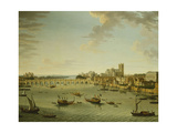 The Thames from the Terrace of Somerset House Looking Towards Westminster  1750