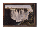 The Great Western Fall  Victoria Falls by Thomas Baines (27/11/1820 - 8/5/1875)  an English…