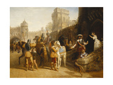 The Countess of Derby's Departure from Martindale Castle  1842