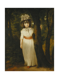Portrait of Miss Harriett Anne Seale as Bo-Peep  Standing Full Length  in a Landscape  Wearing a…
