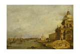 Santa Maria Delle Salute and the Entrance to the Grand Canal  Venice  Looking East