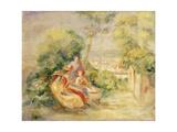Girls in a Garden; Fillettes Dans Un Jardin  C 1895