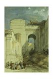 An Old Moorish Gateway  Granada  1883