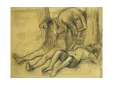 Three Bathers under a Tree; Trois Baigneuses Sous Un Arbre  C1894