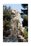 The Lion of Amphipolis  in Macedonia  Northern Greece Dates to the 2nd C Bc