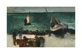 Fishing Boats and Fishermen; Marine a Berck: Bateaux De Peche Et Pecheurs  1873