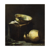 Still Life with Copper Pots and Black Fish  1894