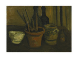 Still Life with Brushes in a Flowerpot; Nature Morte Aux Pinceaux Dans Un Pot a Fleurs  1884