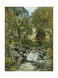 Washers on the Bank of the River; Laveuses Au Bord De La Riviere  C1877-1881