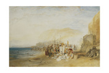 Hastings: Fish Market on the Sands  Early Morning  1822
