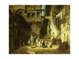 Laundry Women at the Well; Wascherinnen Am Brunnen  C1860