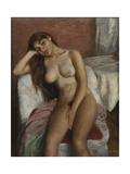 Young Woman Relaxing; Jeune Femme Se Reposant