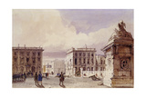 Hotel De Bellevue and Cafe D'Amitie Seen from the Park  Brussels  1830
