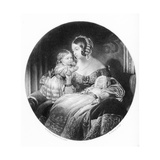 The Queen  the Princess Royal and the Prince of Wales  Engraved by R Piercy  1842