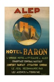 Poster Advertising the Baron Hotel in Aleppo  C1920