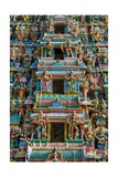 Exquisitely Detailed Carvings on the Gopuram (Tower) of the Durga Devi Temple in Vidyaranyapura …