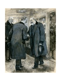 The Prince of Wales Greeting the German Emperor  Charing Cross Station  20 January 1901