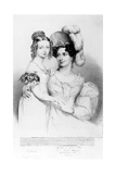 Queen Victoria and Her Mother Princess Victoria  Duchess of Kent and Strathearn  Engraved by…
