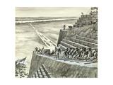 Building the Great Pyramid at Giza