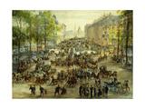 A Busy Boulevard  1877