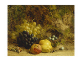 Grapes  an Apple  a Pear and a Bird's Nest on a Mossy Bank  1865