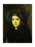 A Portrait of a Young Girl with a Bow in Her Hair