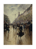 Four Pm at the Carrefour Drouot and the Grand Boulevard  C1895