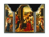 Triptych: Adoration of the Magi  with St James Presenting the Donor and St Catherine of…