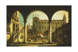 A Capriccio of the Scuola Di San Marco  Venice  from the Palazzo Grifalconi-Loredan
