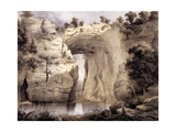 Natural Bridge  Rockbridge County  from 'Album of Virginia'  1858