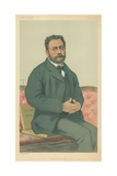 M Emile Zola  French Realism  24 January 1880  Vanity Fair Cartoon