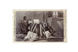 James Chuma and Abdullah Susi with David Livingstone Artefacts  Newstead Abbey  England  June 1874