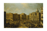 The Largo San Ferdinando  Naples  at Carnival Time with the Royal Carriage Approaching the…