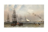 The Arrival of the Royal Yacht Off Gravesend  7 March 1863