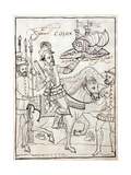 Ms Hunter 242 F247R Christopher Columbus  Illustration from the from 'Historia De Tlaxcala' by…