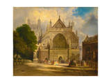 The West Front of Exeter Cathedral  C1860