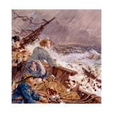 Grace Darling and Her Father Saving the Shipwrecked Crew  Sept 7  1838